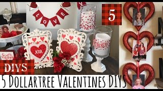 5 Dollartree Valentines DIYS-LOVE BANNER DIY-Red And White Decor