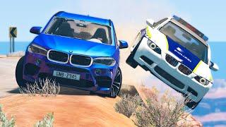 Cliff Drops Car Crashes #17 - BeamNG Drive | CRASHdriven