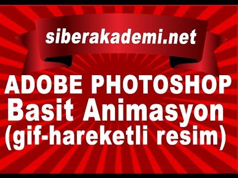Adobe Photoshop Cs6 - Ders 20 - Basit Animasyon( gif-hareketli resim ) Yapımı