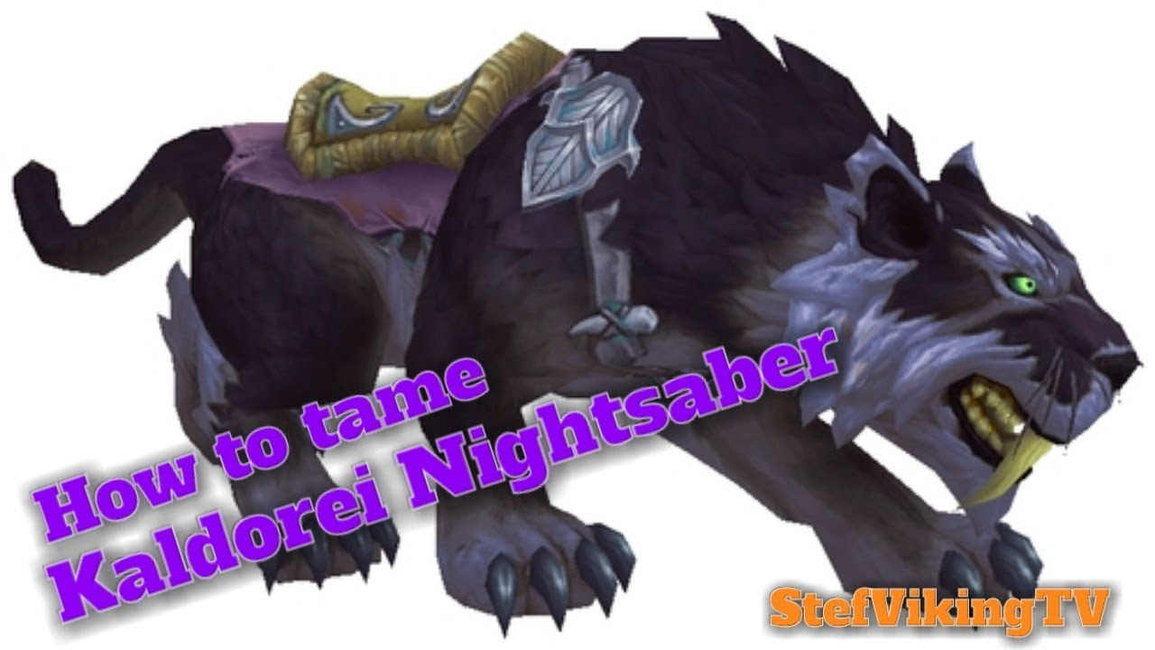 Rare Mount drop Kaldorei Nightsaber dropped by Shadowclaw