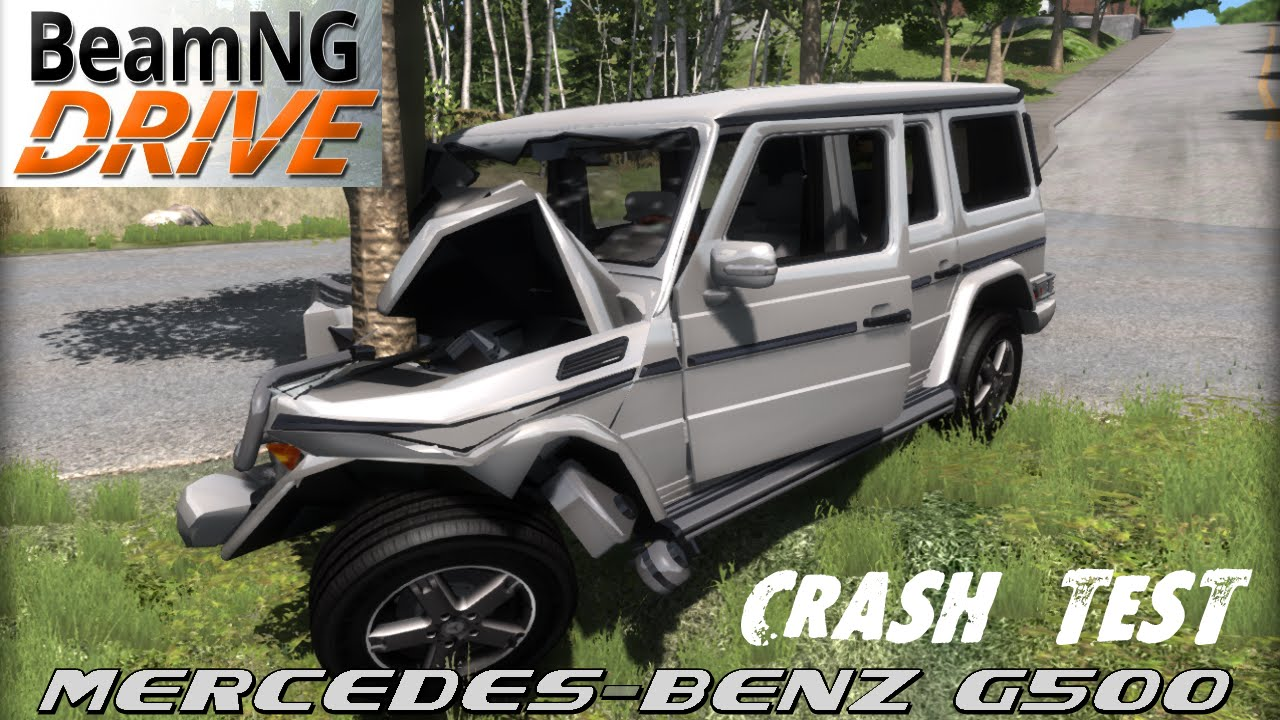 beamng drive crash test mod car mercedes benz g500 youtube. Black Bedroom Furniture Sets. Home Design Ideas
