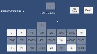 Programming and Algorithm Design - Deal or no Deal - Anhar Ali