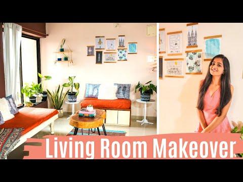 living-room-makeover-/-boho-living-room-makeover-/-diy-decor-ideas-|-dhara-patel