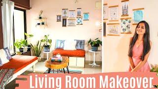 Living Room Makeover / Boho Living Room Makeover / DIY Decor Ideas | Dhara Patel