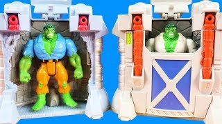 Batman Vs Joker At Hulk Gamma Ray Trap Playset ! Superhero Toys