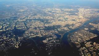 Widok na Warszawę - start z Okęcia i widok na Centrum