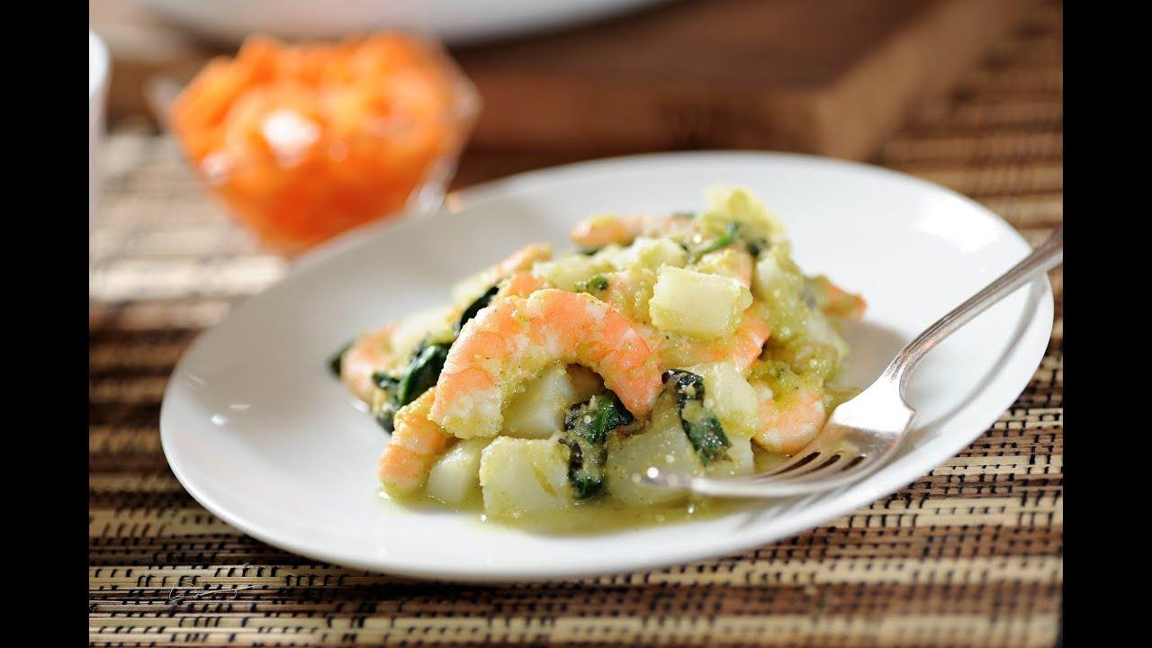 Camarones con espinacas y papas recetas de cuaresma for Cocinar espinacas