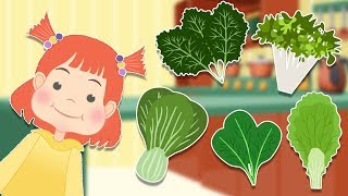 Healthy Food - Leafy Vegetables - Educational Video For Kids - Part 1