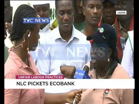 NLC Pickets ECOBANK Over Alleged Unfair Labour Practice