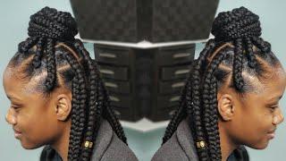 How to Part Jumbo Box Braids