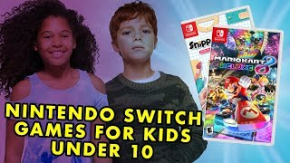 Best Nintendo Switch Games For Kids 10 & Under + Giveaway!