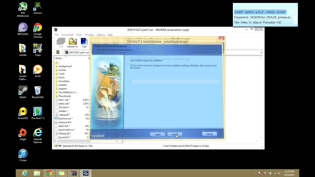 code for sims 3 island paradise