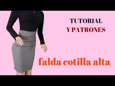 b596bfdd6 DIY Como hacer una falda de cotilla alta corte y confección - YouTube