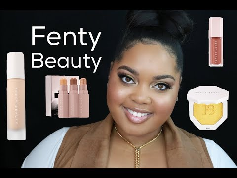 Fenty Beauty FULL Line Overview + Swatches + Demo   KelseeBrianaJai
