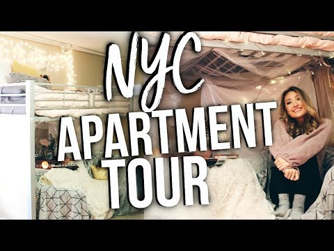 NYC STUDIO APARTMENT TOUR! College Dorm Tour in NYC!