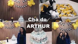 VLOG// Chá de Fraldas do Arthur + Presentes