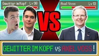 GEWITTER IM KOPF vs. AXEL VOSS 😲😂 | YOUTUBER POKEMON DUELL 🥊