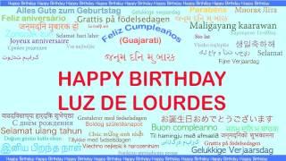 LuzdeLourdes   Languages Idiomas - Happy Birthday