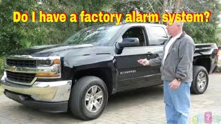 Does my car have a factory alarm system