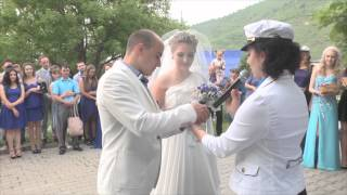 Свадьба в морском стиле в Алматы. Тамада Елена Борисова [1080p]