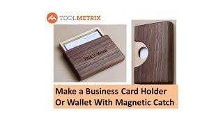 Make a Wooden Business Card Holder