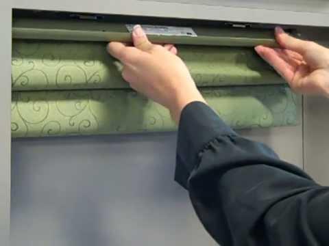 Corded Cellular & Roman Shade Installation
