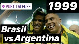 Así disfrutamos el Brasil vs Argentina 1999. Exhibición brasileña. #RivaldoRonaldo