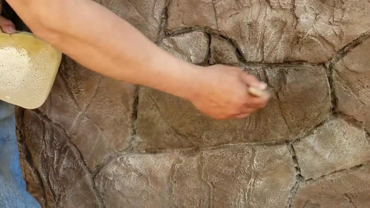 Como Hacer Piedras Planas Con Cemento Y Estampa Youtube