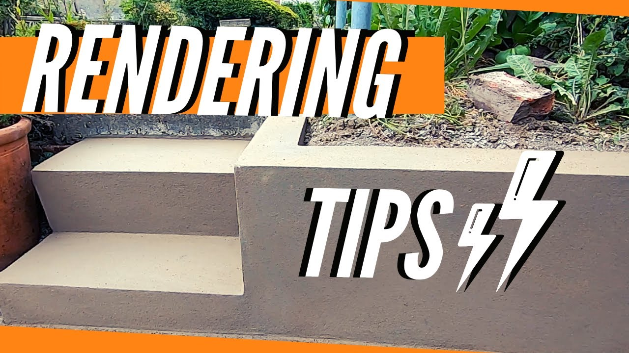 Rendering A Garden Wall & Brick Steps With Sand And Cement (Plastering For Beginners)