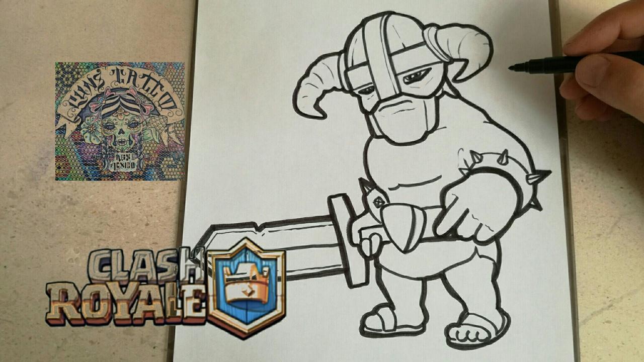 Dibujos Para Dibujar De Clash Royale: COMO DIBUJAR AL BARBARO DE ELITE