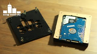 DIY wooden hard drive enclosure
