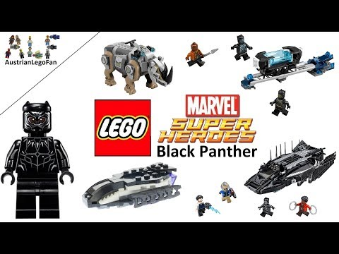 Lego Black Panther Sets Compilation - Lego Speed Build Review