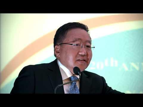 "Tsakhiagiin Elbegdorj: Mongolia will always say ""YES"" to human rights"