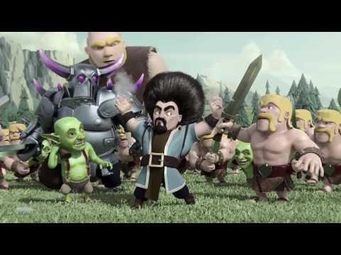Clash of clans Official Wizard Hair Animation HD
