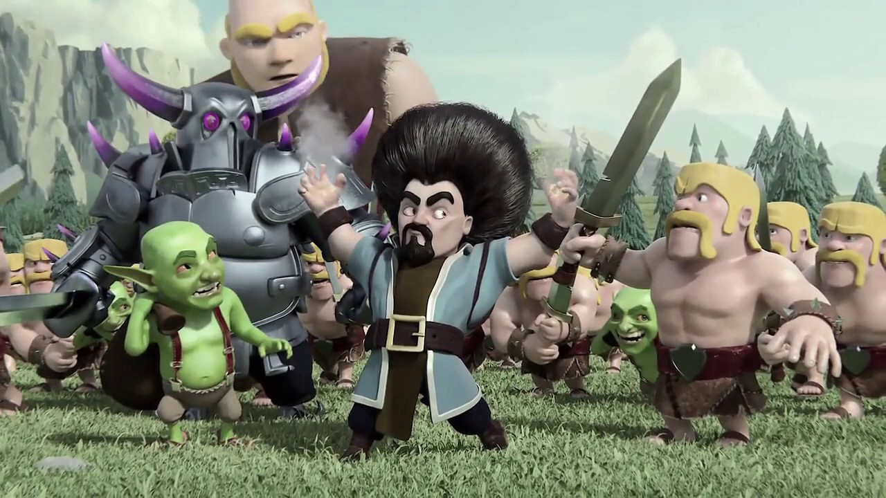 Clash Of Clans Official Wizard Hair Animation Hd Youtube