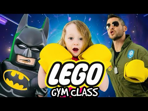 Kids Workout! LEGO EPIC ADVENTURE! GYM CLASS! Real-Life VIDEO GAME! Kids Workout Videos, DANCE, PE!