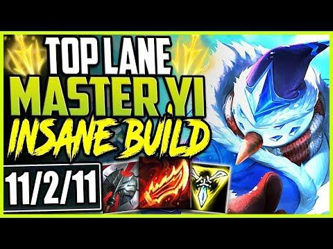 TOP LANE SNOWMAN MASTER YI | 3000HP & ONESHOTS? INSANE BUILD | LoL Top Master Yi Season 9 Gameplay