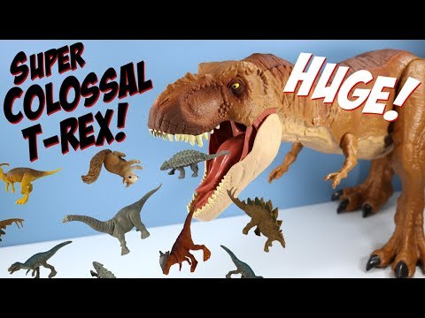 Jurassic World Fallen Kingdom Super Colossal Tyrannosaurus Rex Mattel