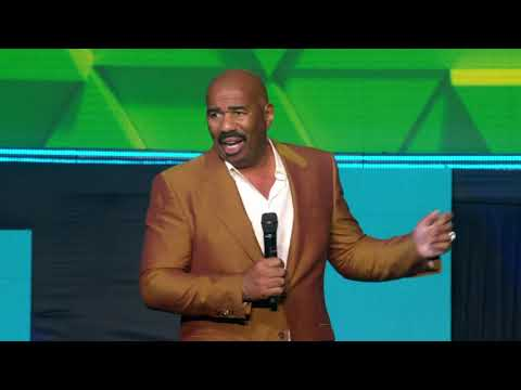 Steve Harvey at the Sagicor Motivational Seminar (SMS) 2019 ...