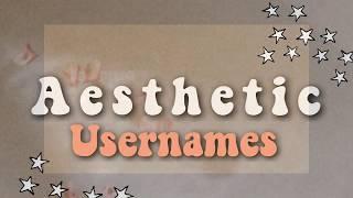 Aesthetic Usernames Youtube