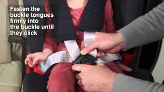 как правильно зафиксировать ребенка в автокресле Britax&Romer с 5-точечными ремнями безопасности