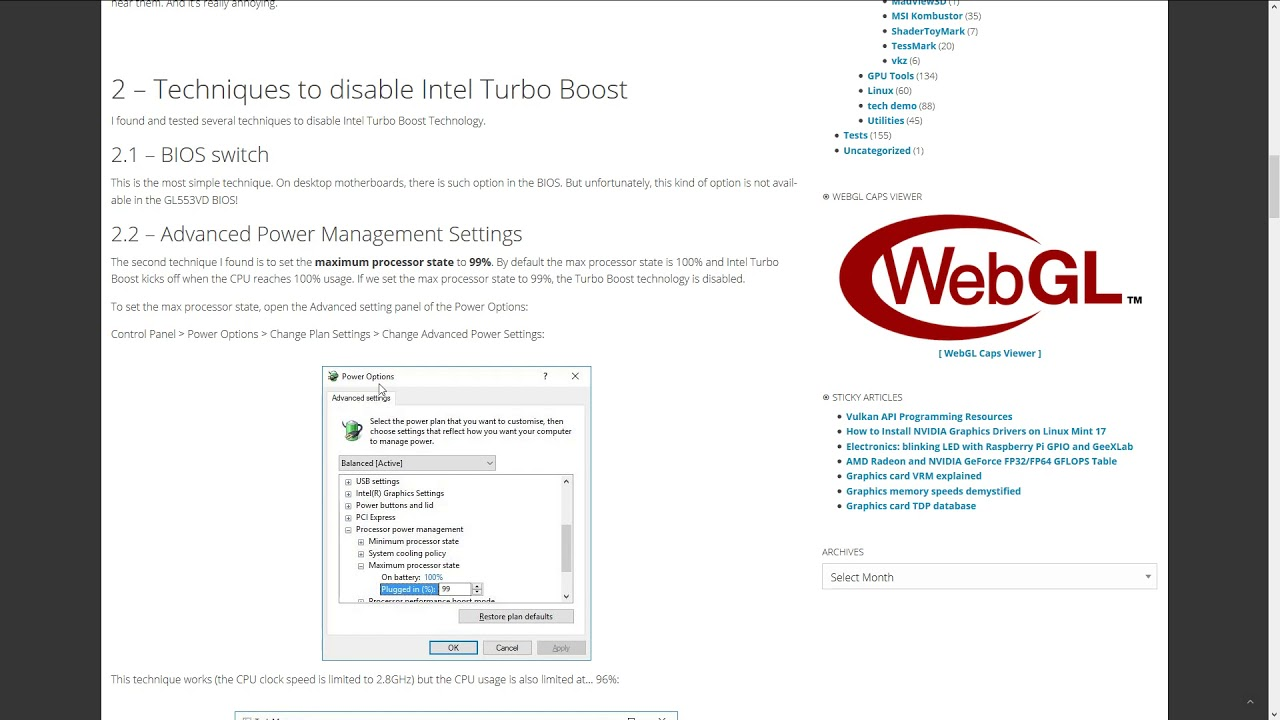 Disable the Intel Turbo Boost and solve the Heat Problem 8750H 7700HQ
