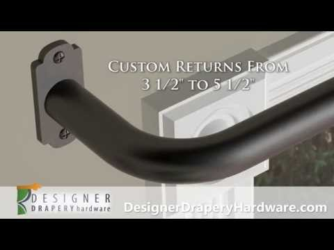 Wrap Around Curtain Rods - French Return Rods