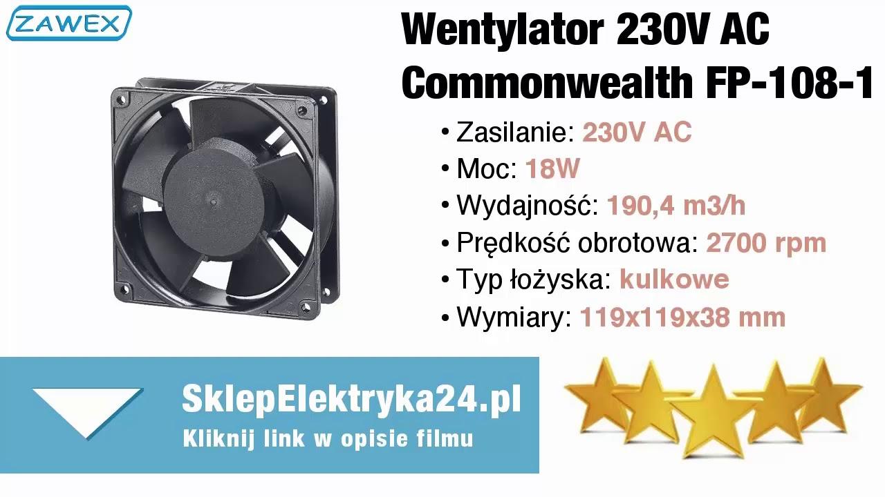 Wentylatory Do Szaf Sterowniczych 230v Ac Sklepelektryka24pl
