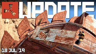 IT'S HERE! GIANT EXCAVATOR pit monument on Staging | Rust update 18th July 2019
