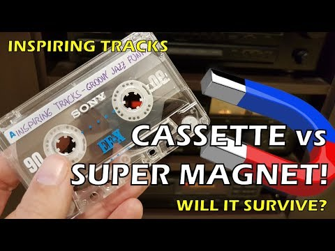 Cassette tape vs super strong magnet - will it survive?