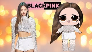 How to Make JENNIE BLACKPINK Paper LOL Doll with PRINTABLES