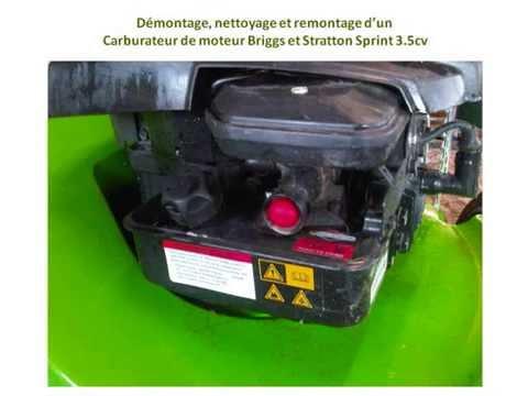 Nettoyage carburateur moteur briggs et stratton sprint 3 5cv youtube - Nettoyage carburateur tondeuse ...