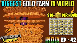 😱WORLD BIGGEST GOLD FARM IN MINECRAFT - SAMSUNG,A3,A5,A6,A7,J2,J5,J7,S5,S6,S7,59,A10,A20,A30,A50,A70