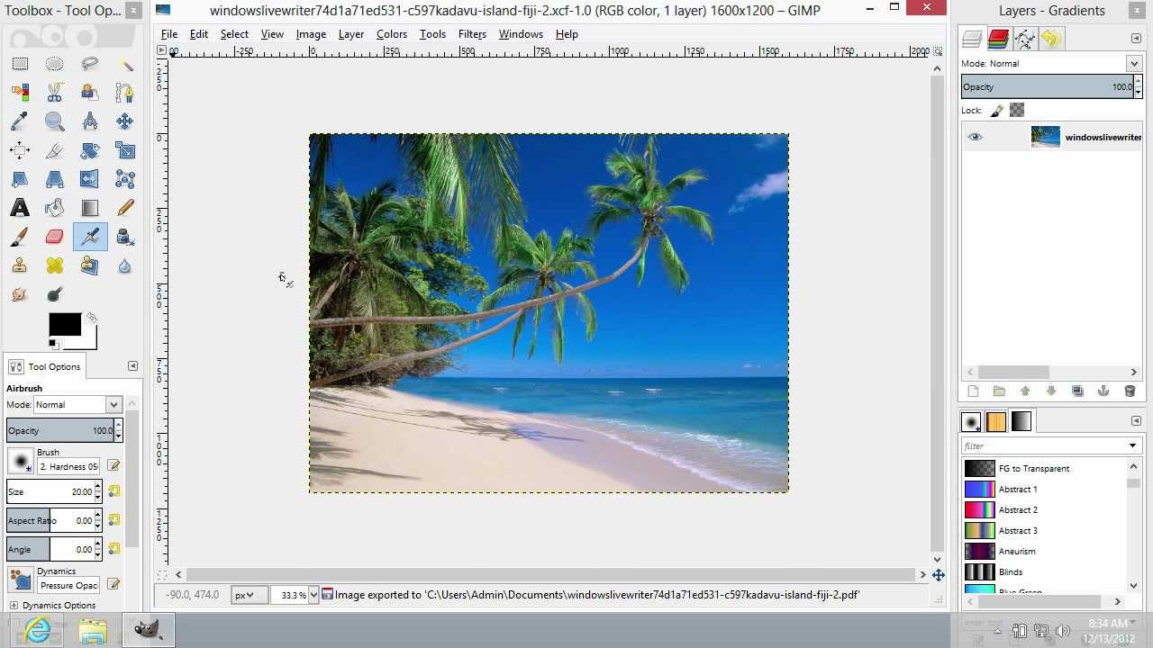 Help pdf gimp